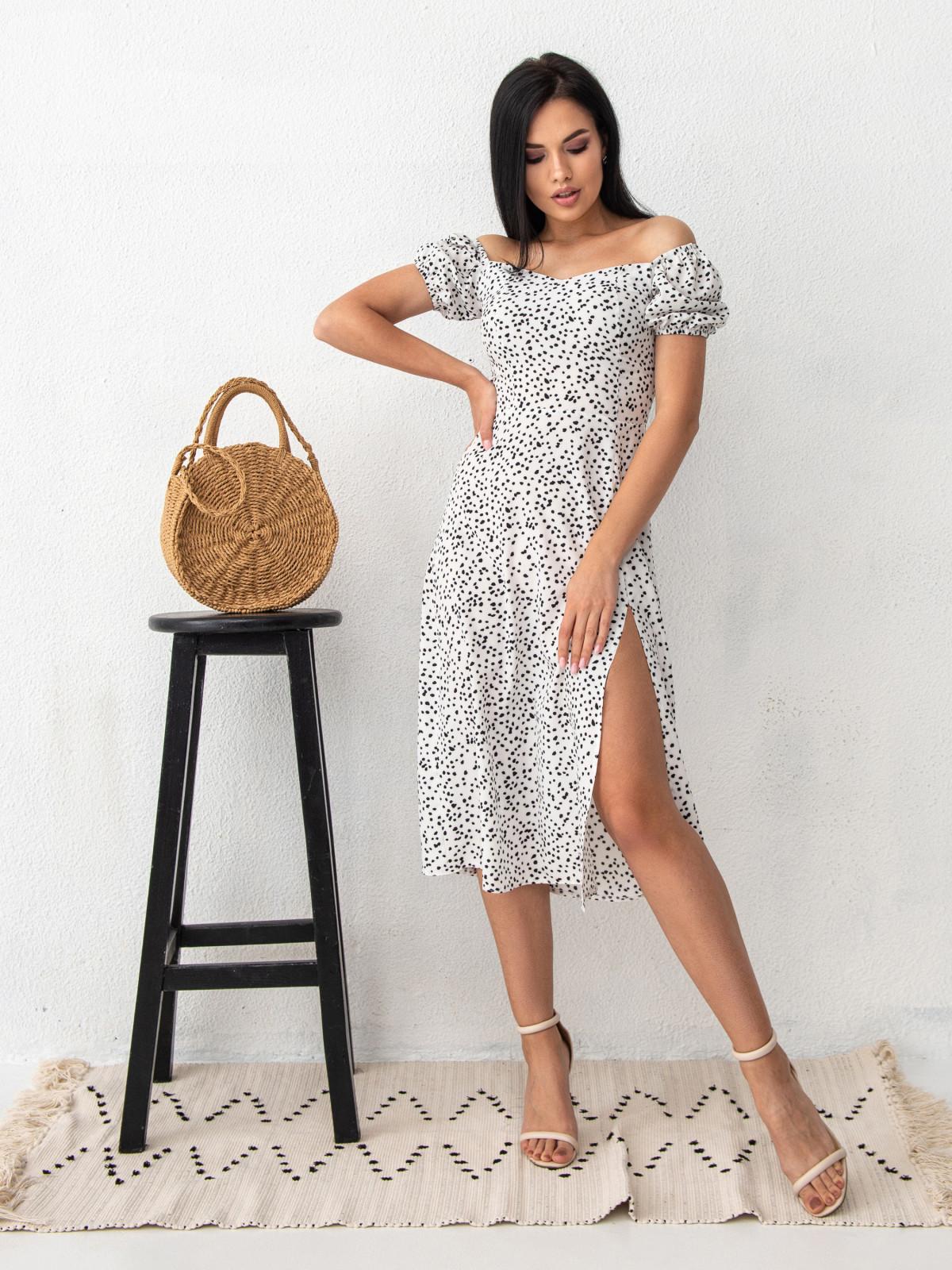 Платье ELLA Белый-черный