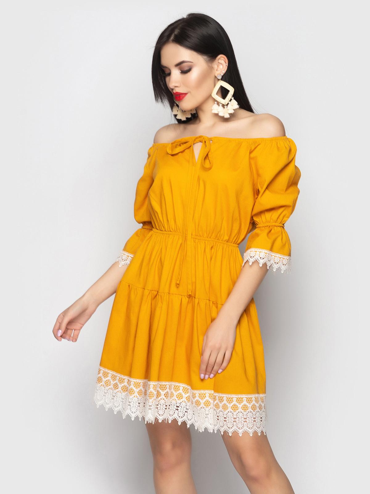Платье Avrora Горчица