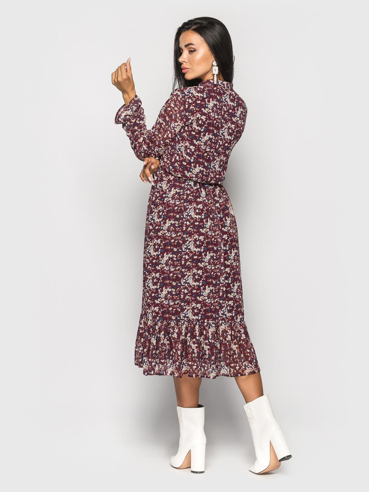 Платье Polina бордовый