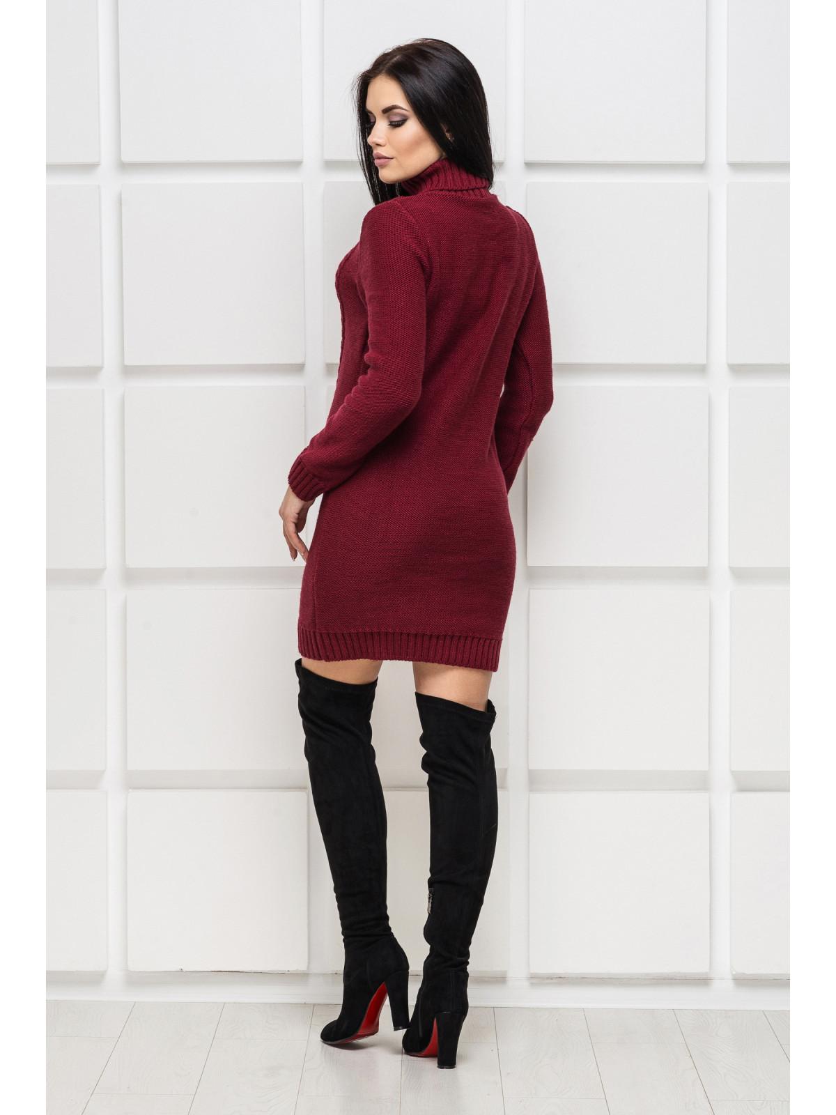 Платье вязаное Aleksa-1 Бордовый
