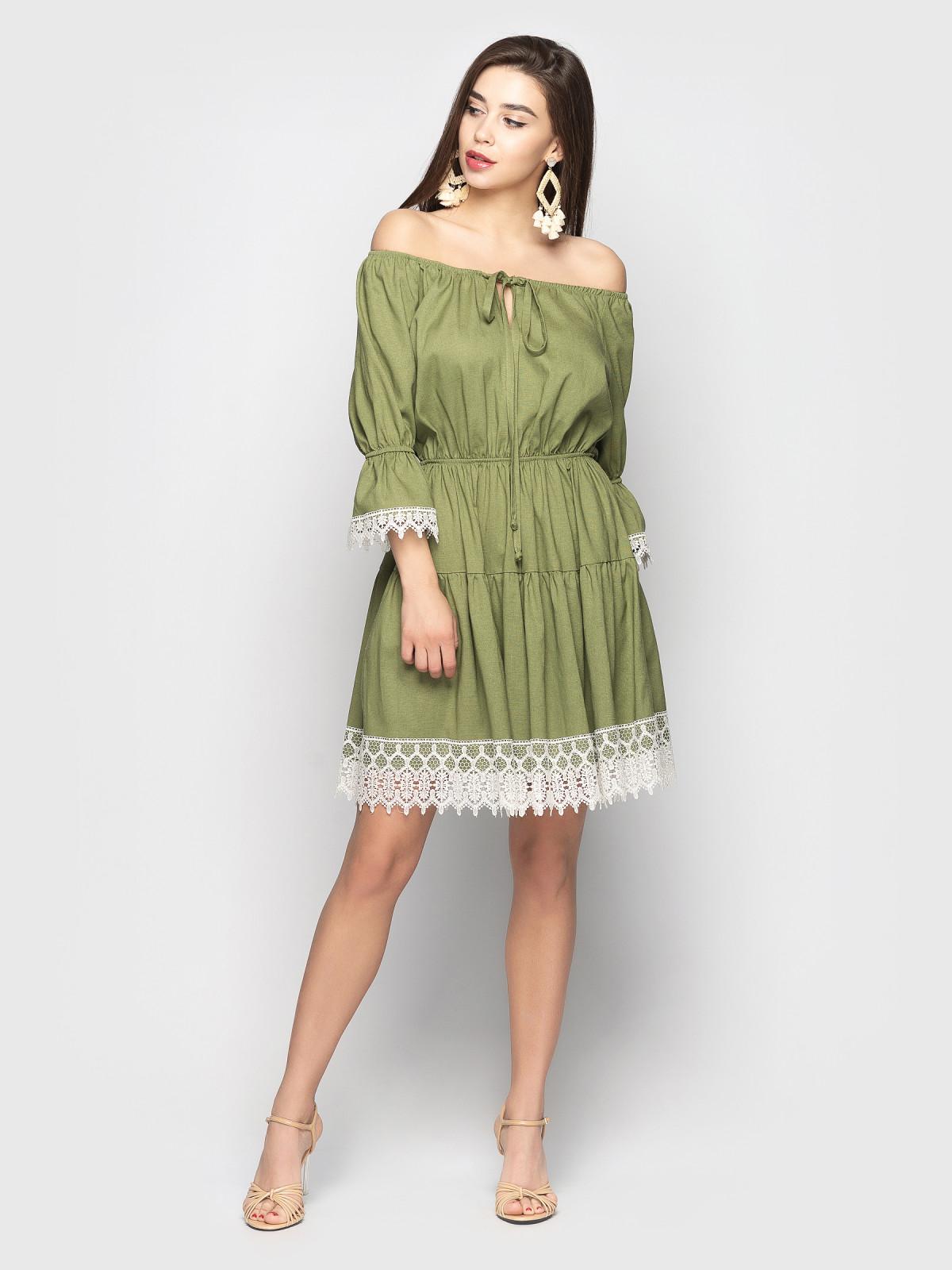 Платье Avrora Хаки