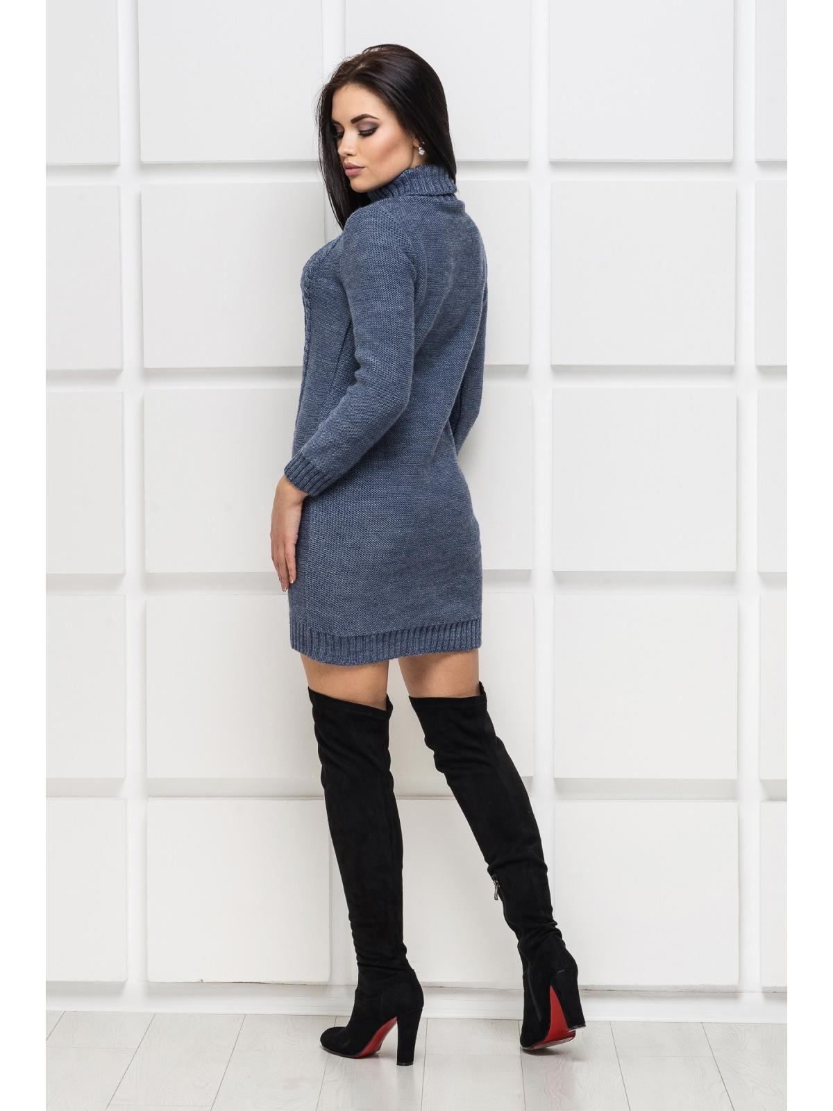 Платье вязаное Aleksa-1 Джинс