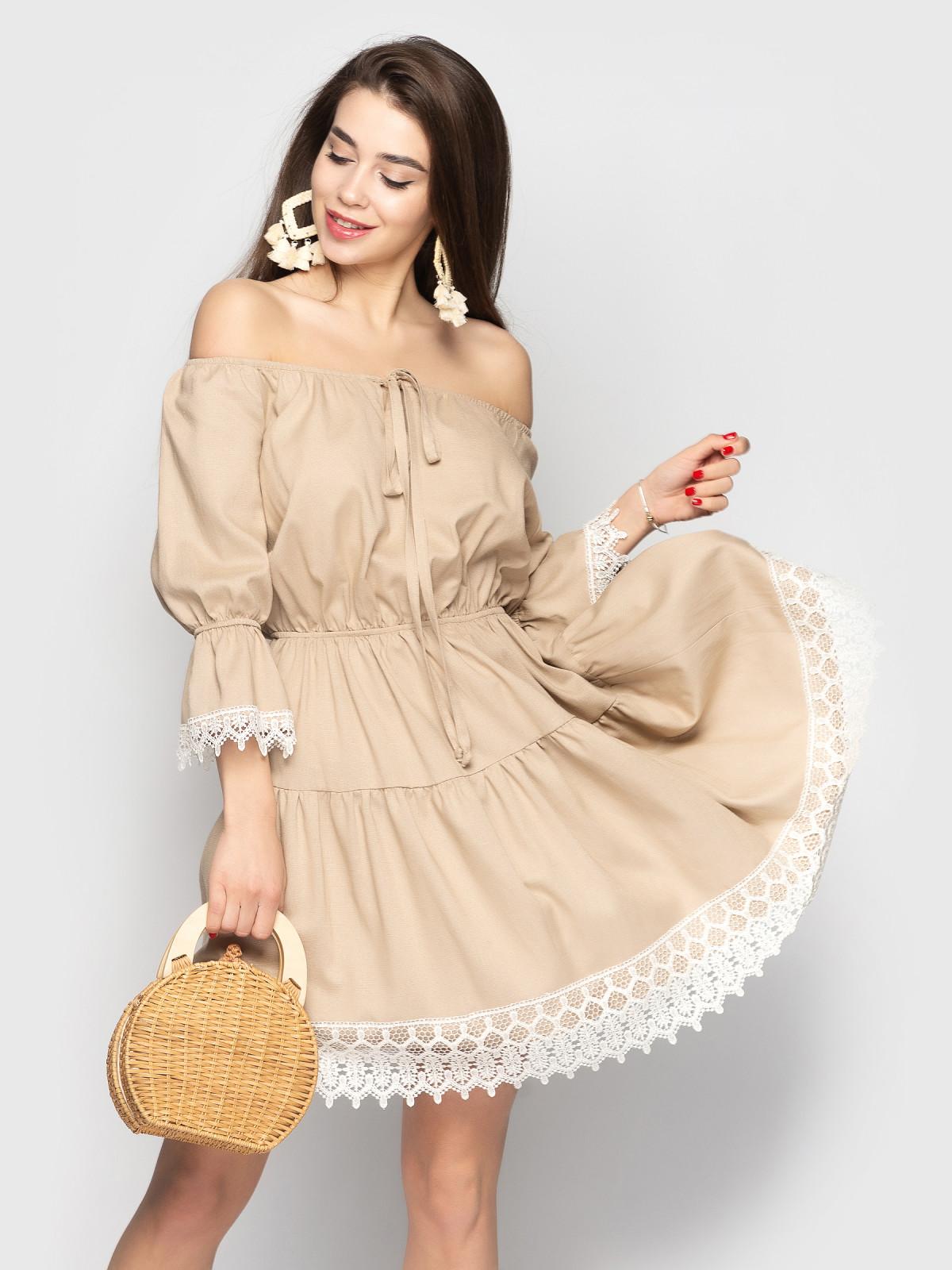 Платье Avrora Кофейный
