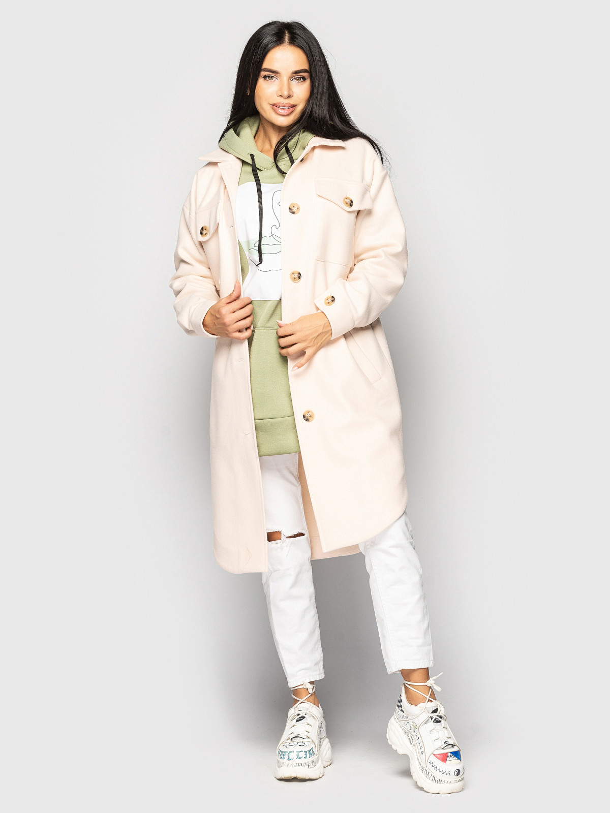 Пальто Daisy Молочный