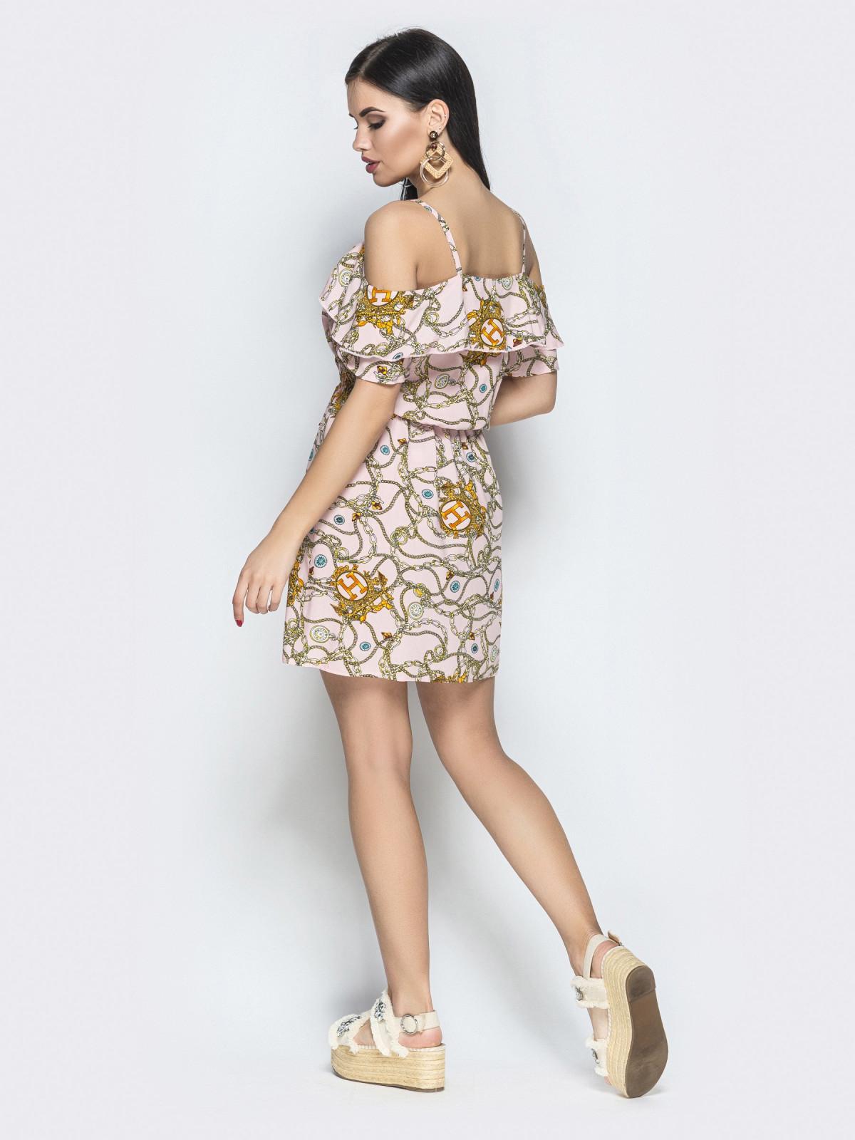 Сарафан Amanda розовые цепи