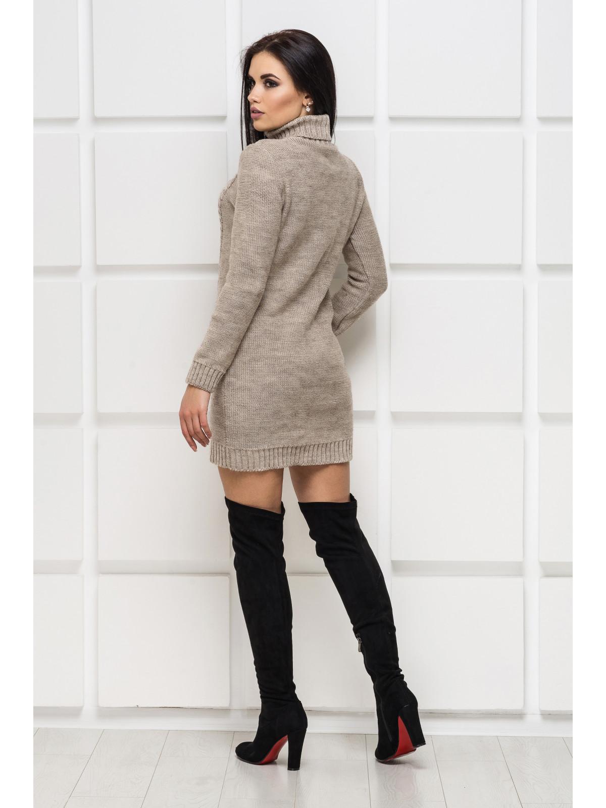 Платье вязаное Aleksa-1 бежевый