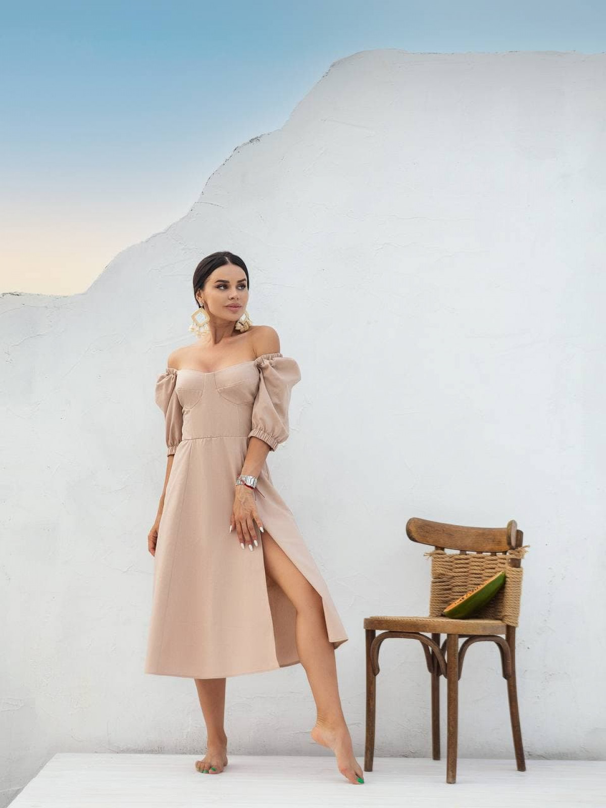 Платье Marakuya2 Бежевый