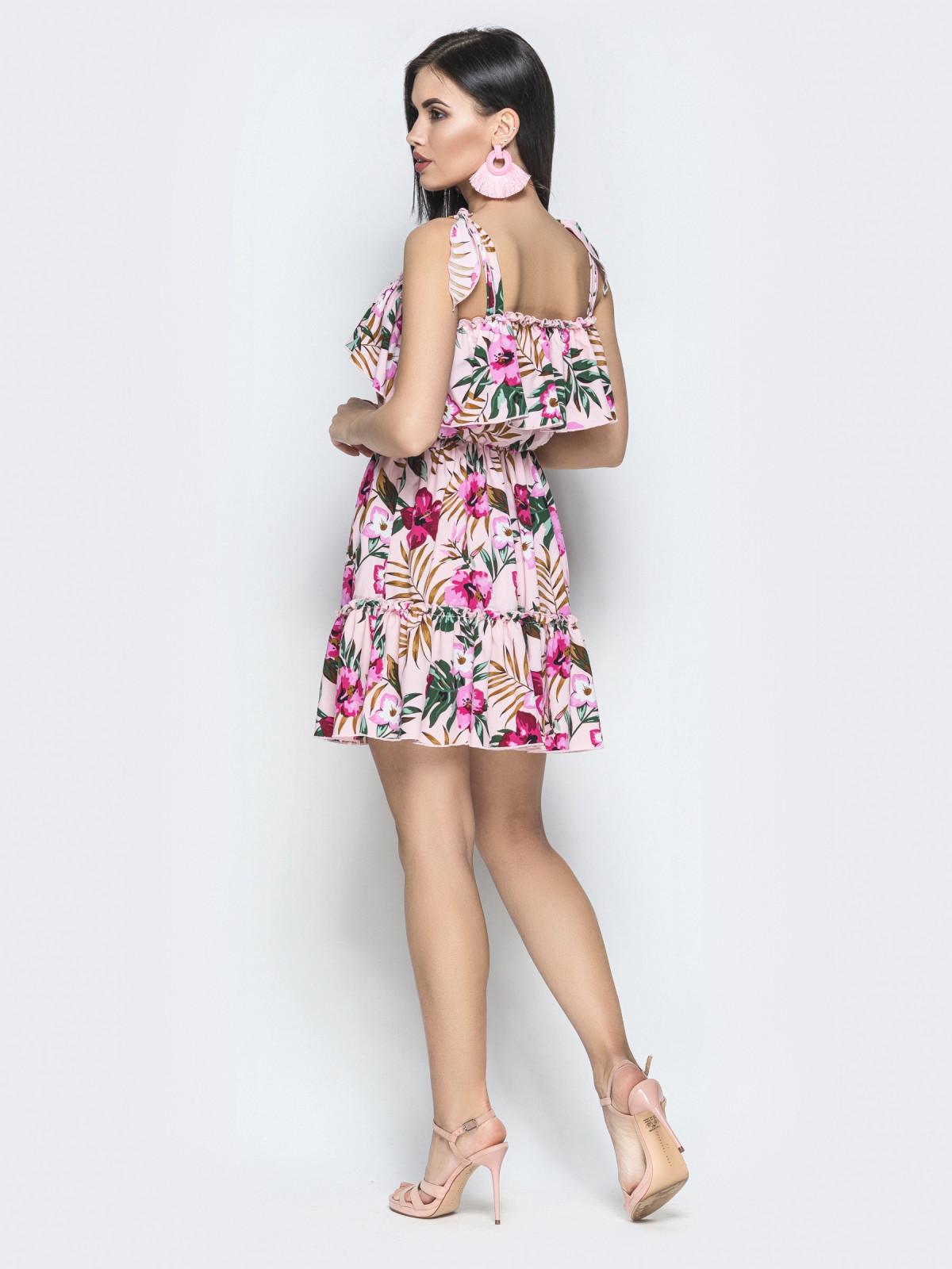 Платье Tayana розовая монстера
