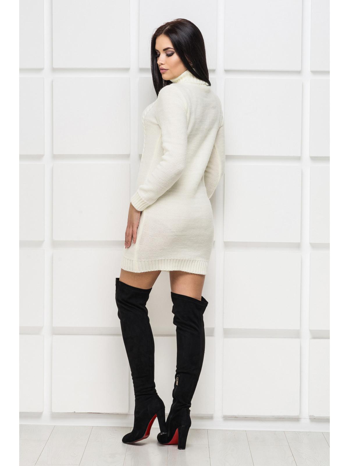 Платье вязаное Aleksa-1 молочный