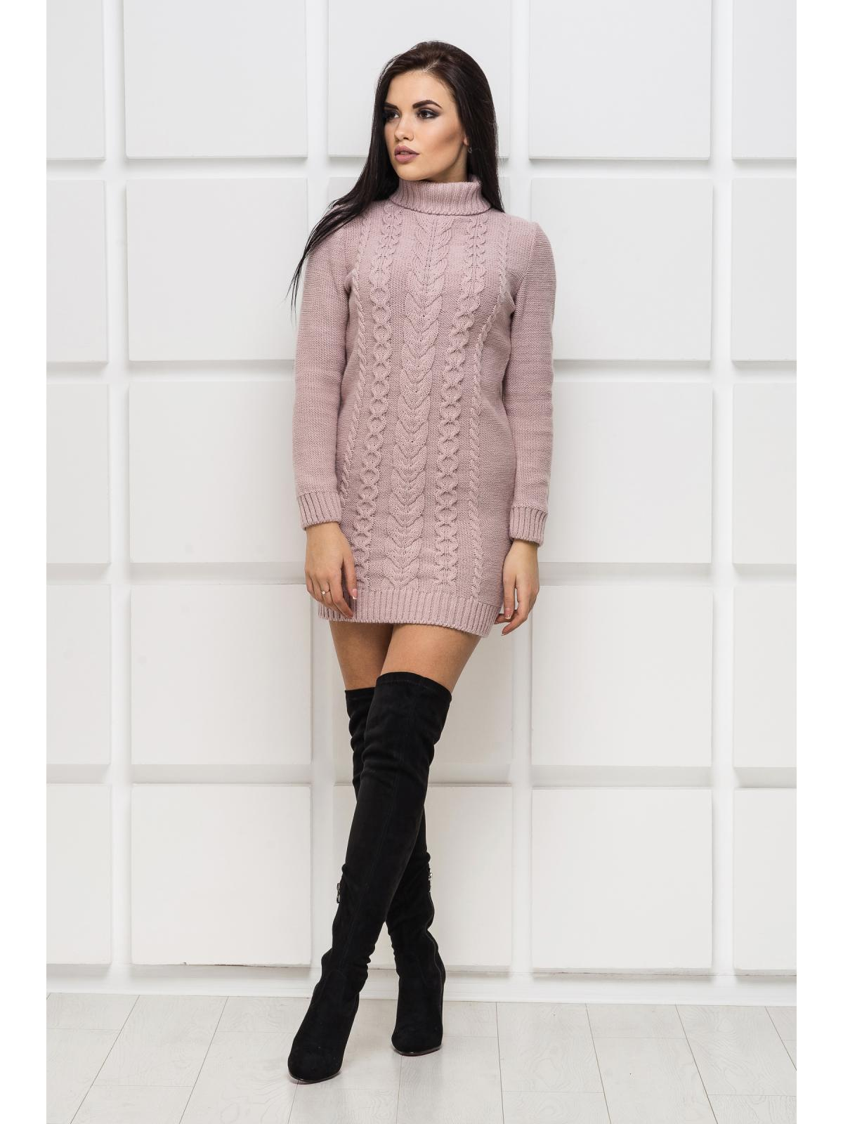 Платье вязаное Aleksa-1 розовый