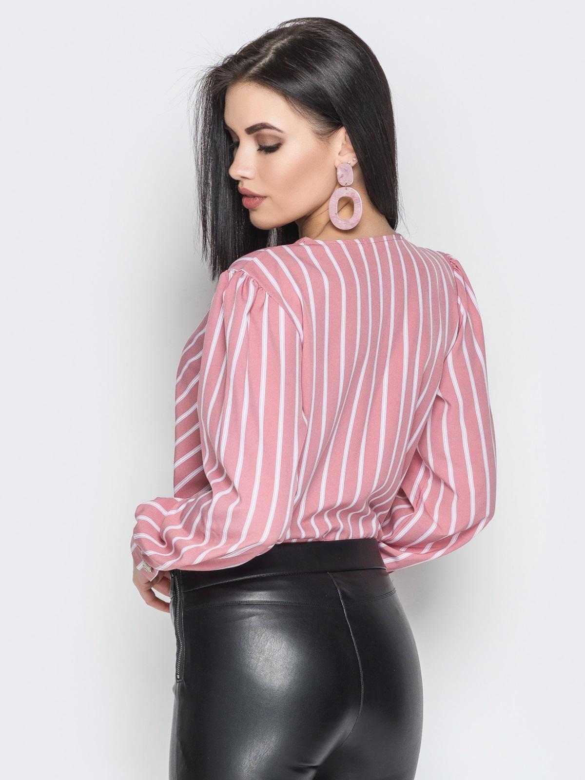Блузка Angelina розовая полоска