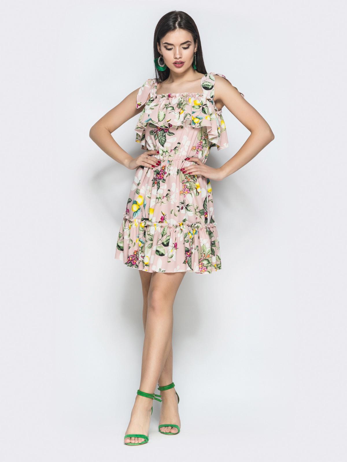 Платье Tayana розовый лимон
