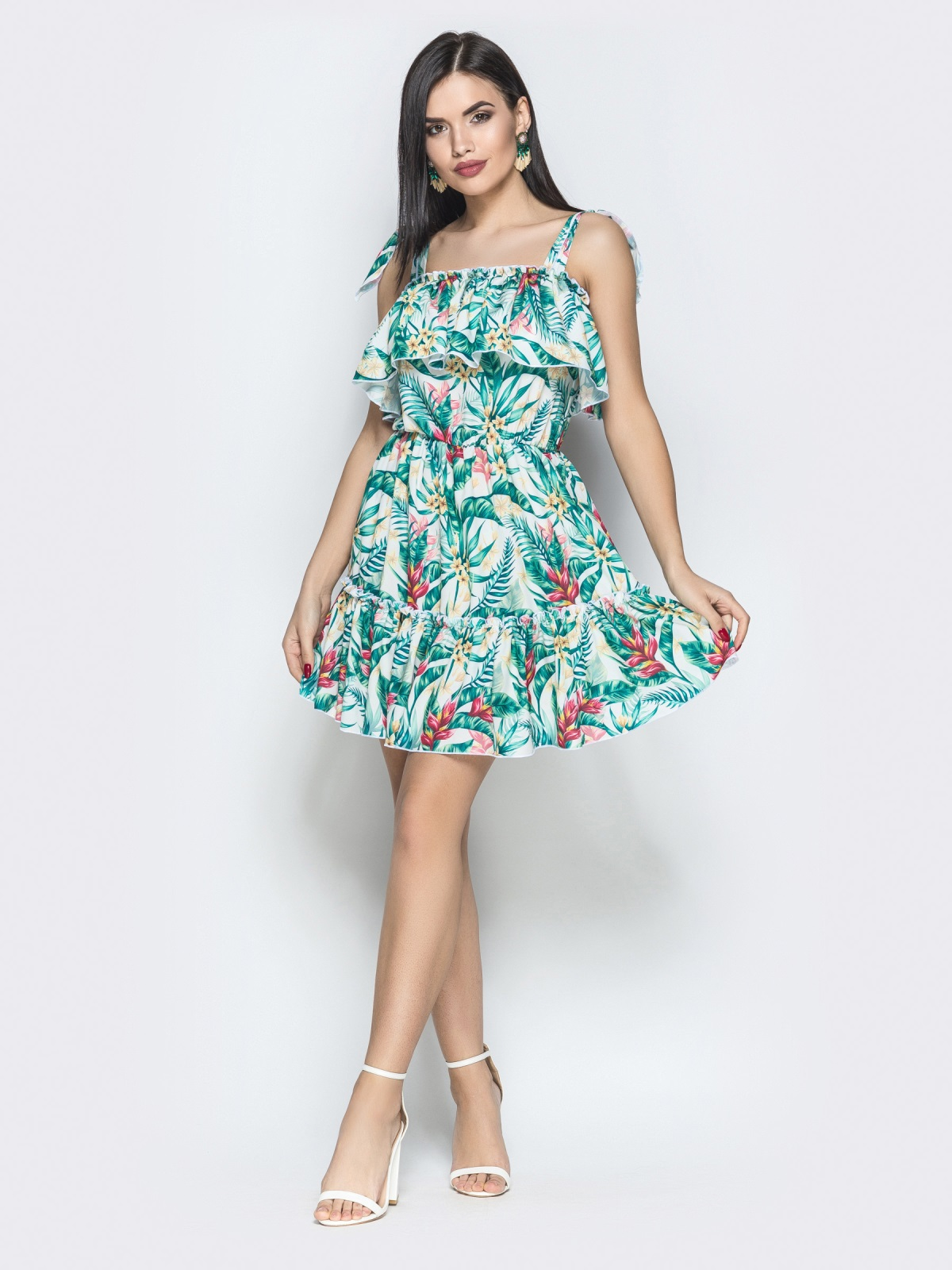 Платье Tayana белый тропик