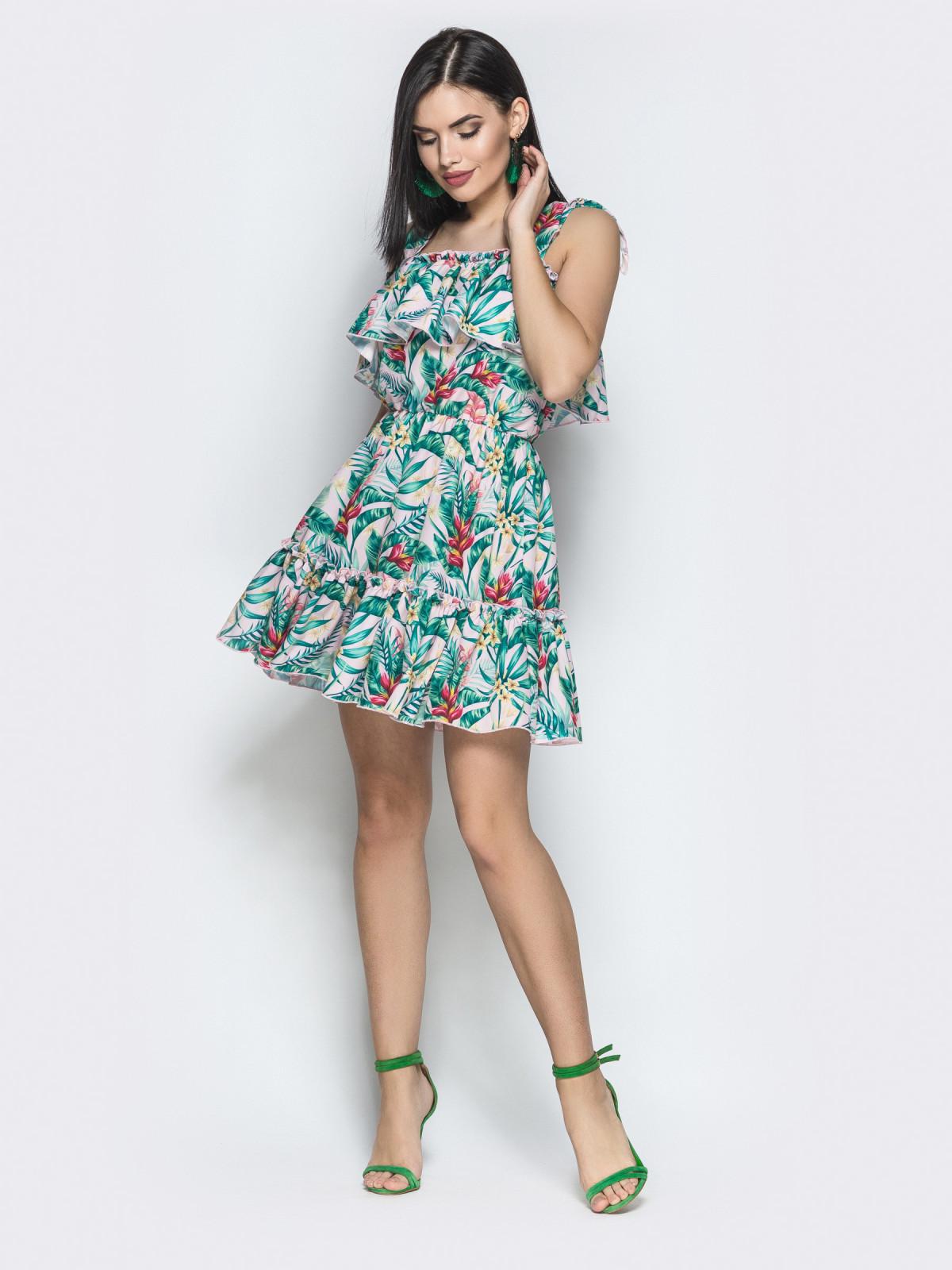 Платье Tayana розовый тропик