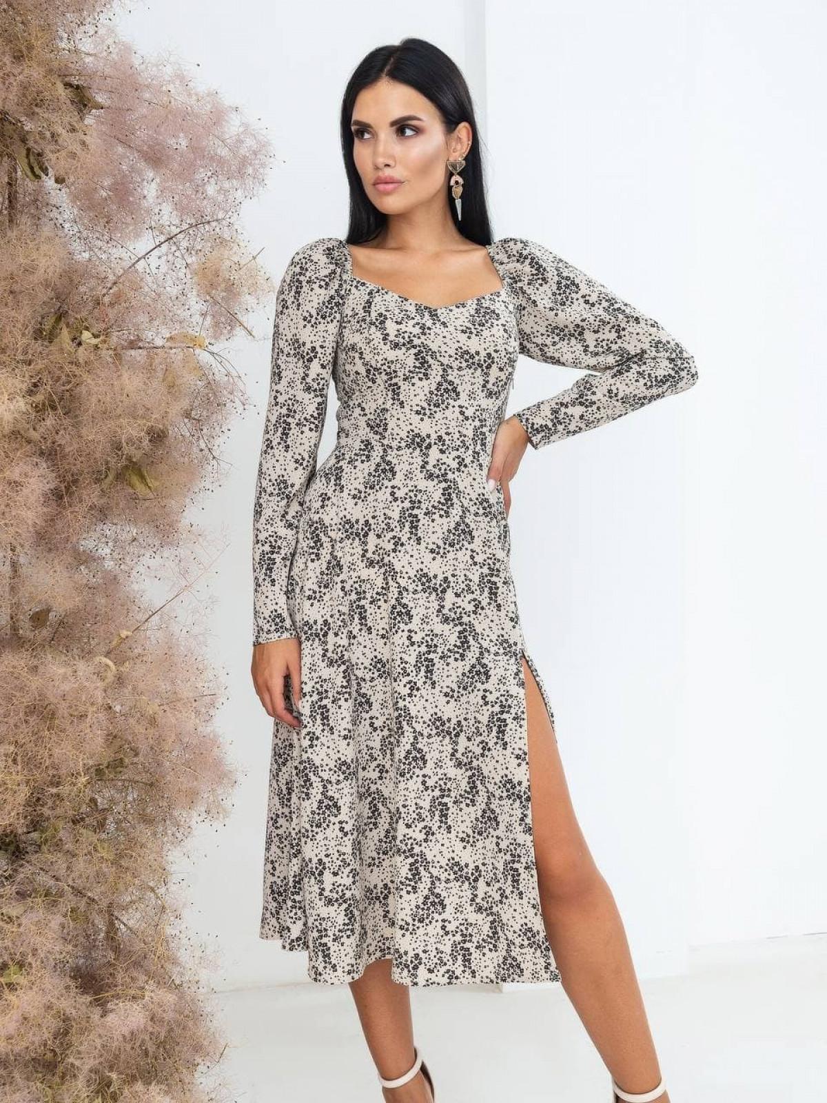 Платье Mirabella Бежевый-черный