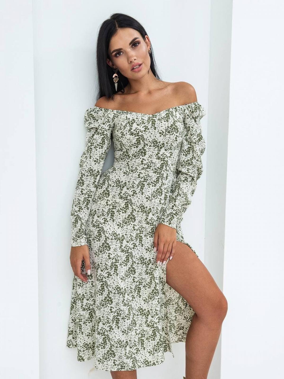 Платье Mirabella Белый-зеленый