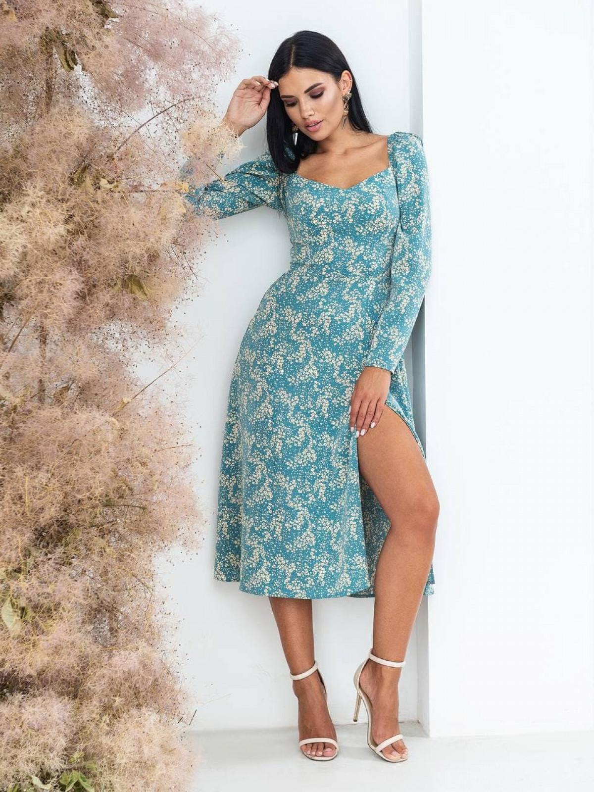 Платье Mirabella Голубой-белый