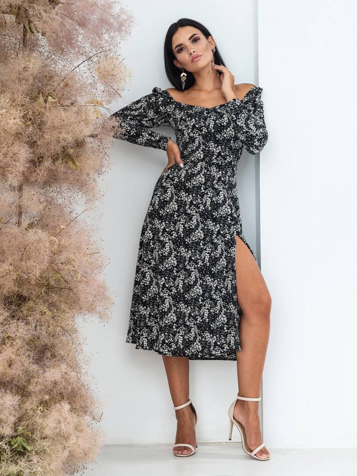 Платье Mirabella Черный-белый