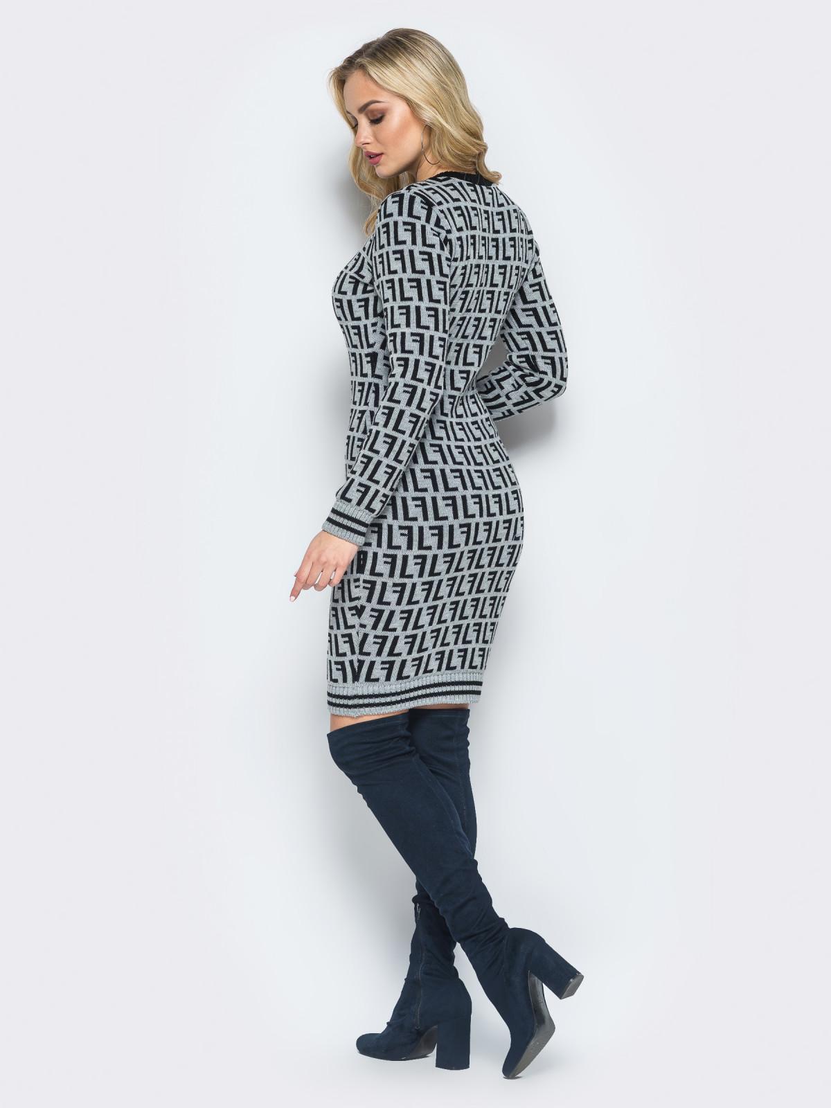Платье Larionoff Серый-черный